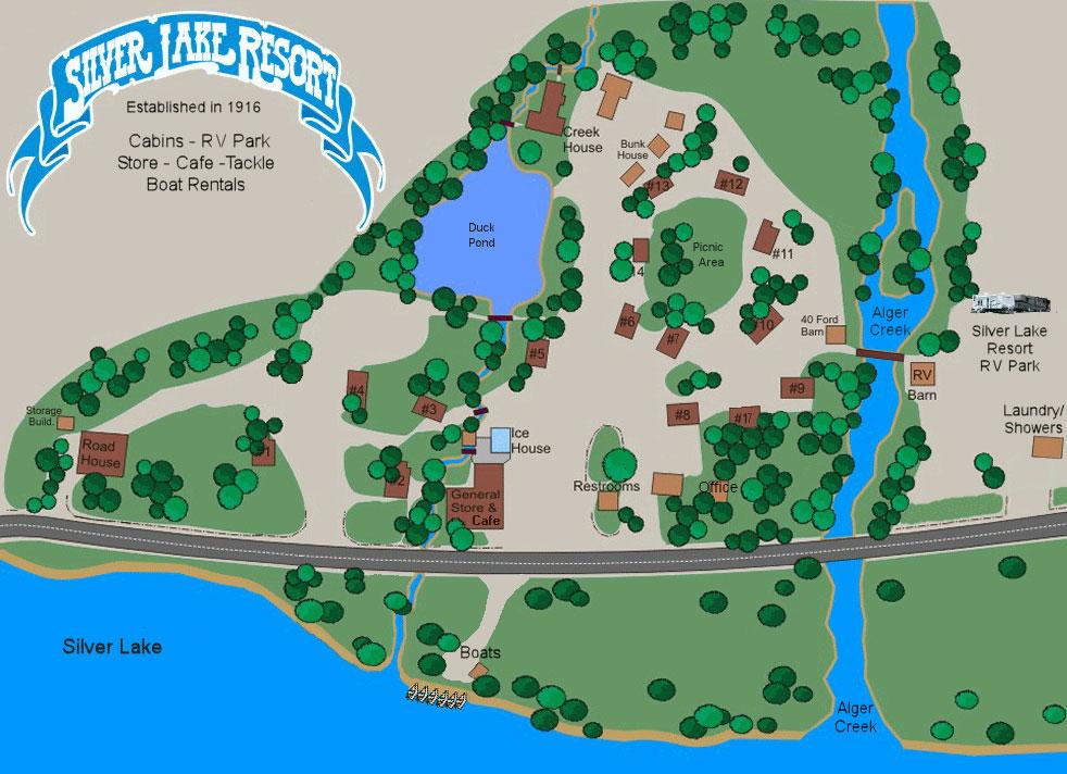silver lake resort map Slr Site Map Silver Lake Resort silver lake resort map